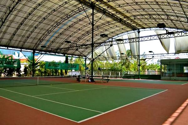 Lắp đặt mái che sân tennis | Xây dựng sân tennis | Làm sân tennis