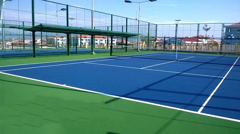 Mái che sân tennis - Cty xây dựng sân tennis, thi công sân tennis