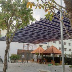 Mái bạt xếp mái bạt che mái bạt lùa di động tại Đông Hà Quảng Trị