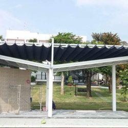 Mái bạt xếp mái bạt che mái bạt lùa di động tại đảo Phú Quốc